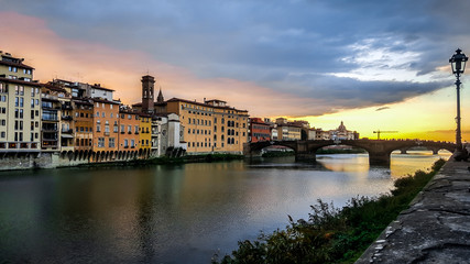 Arno river in Florence, Italy.