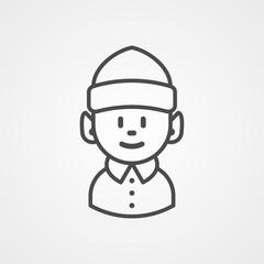 Elf vector icon sign symbol