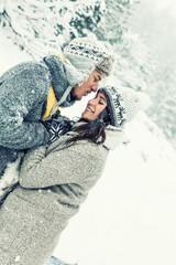 love romantic couple on christmas