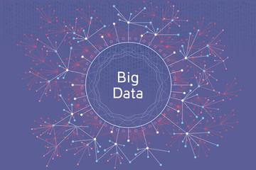 Big Data Concept Purple
