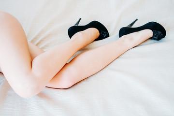 Seansual picture of beautiful feminine legs