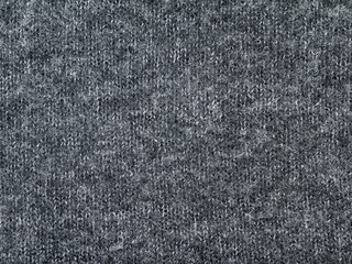 Heather grey knitted polyamide polyacryl and wool mixed fabric