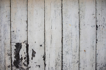 White painted wooden board photo texture. Natural wood background. Distressed rough lumber board.