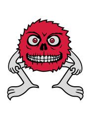 arme beine pelzig wuschelig haarig haare klein horror halloween gruselig böse gesicht kopf augen schädel totenkopf tot tod monster clipart cartoon comic