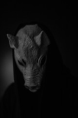 Scary pig mask