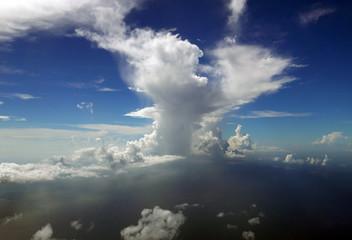 Dramatic cloud in blue sky