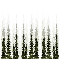 Christmas tree watercolor modern classic pattern