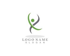 Health people care logo design template