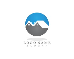 Home and property logo design template