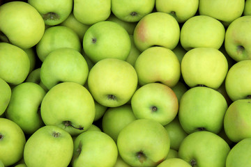 Many green apples . Food texture