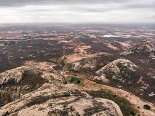 AERIAL VIEW OF WILDERNESS OF CEARA , SEMI ARID REGION, BRAZIL
