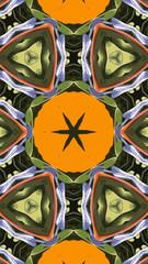 Kunstvolles geometrisches Muster und abstrakter Hintergrund