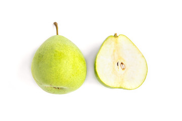 Pear isolated on white background.