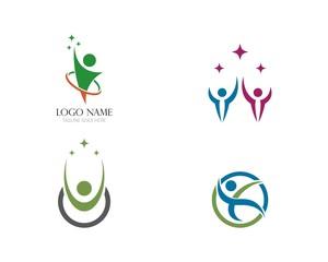 Fun people logo template