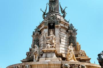 Columbus monument detail
