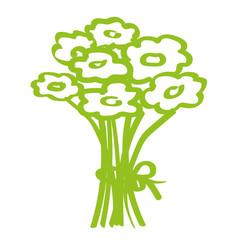 Handgezeichneter Blumenstrauß in hellgrün