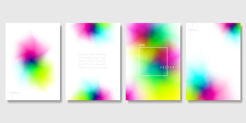 Set of Colorful Modern Templates with Abstract Blurred Graphic Elements. Applicable for Banners, Posters, Web Backgrounds and Cover Prints. EPS 10 Vector.