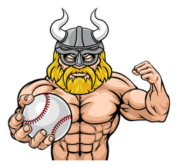 A Viking warrior gladiator baseball sports mascot