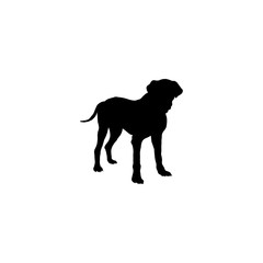 Poster Panther dog vector icon. dog sign on white background. dog icon for web and app