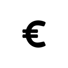 euro vector icon. euro sign on white background. euro icon for web and app