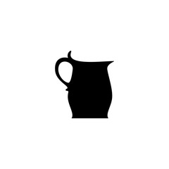 jug vector icon. jug sign on white background. jug icon for web and app