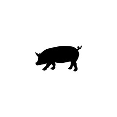 pig vector icon. pig sign on white background. pig icon for web and app