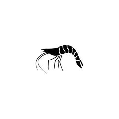 shrimp vector icon. shrimp sign on white background. shrimp icon for web and app