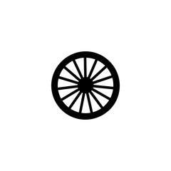 wagon wheel vector icon. wagon wheel sign on white background. wagon wheel icon for web and app