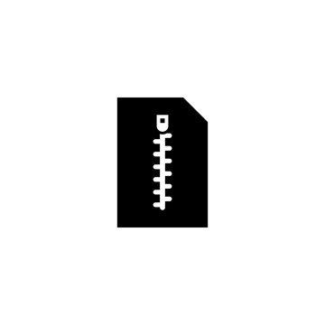 zip file vector icon. zip file sign on white background. zip file icon for web and app