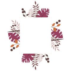 Florale Karte