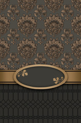 Wall Mural - Decorative vintage background with frame.