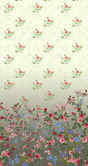 Floral textile designed prints for multiple use