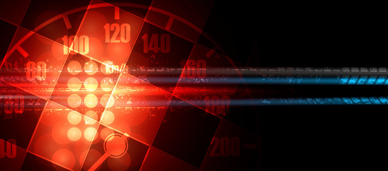 Racing speed background, vector illustration abstraction in car track