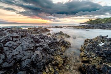Sunset at La Perouse Bay in Maui, Hawaii