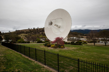 DSS43 at the Tidbinbilla Canberra Deep Space Communication Complex. The largest antenna at the complex and is able to communicate with spacecraft at great distances.