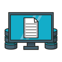 Computer with document and database