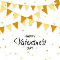 Creative Poster, Banner or Flyer design. Happy Valentine's Day celebration. Saint Valentine's day concept