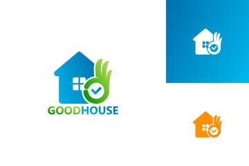 Good House Logo Template Design Vector, Emblem, Design Concept, Creative Symbol, Icon