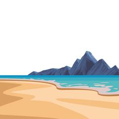 Obraz Beach and island scenery - fototapety do salonu