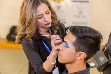 Hispanic (latin) male professional makeup