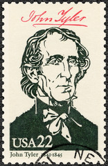 USA - 1986: shows Portrait of John Tyler  (1790-1862), 10th president of the United States, series Presidents of USA