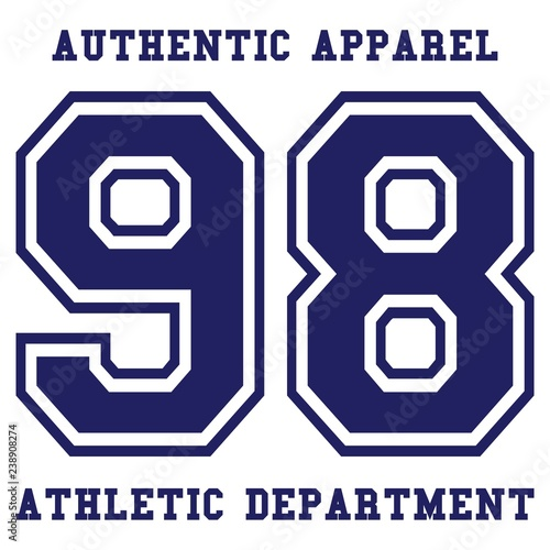 eadaae82 Athletic apparel design. Athletic apparel typography in modern style.  Vintage typography, t-shirt graphics.