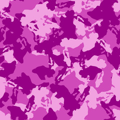 UFO camouflage of various shades of pink and purple colors