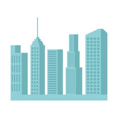 skyscrapers silhouette cityscape