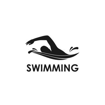 swimming logo template