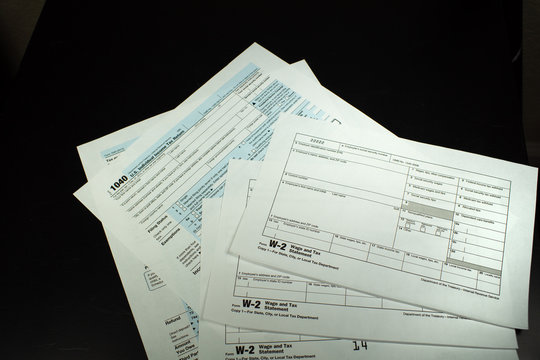 IRS Income Tax Forms 1099 and W2