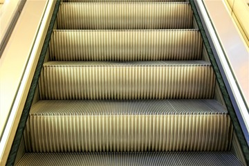 An Image of a escalator