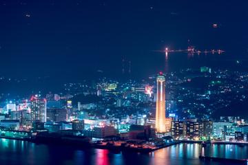 地方都市の夜景【山口県下関市】