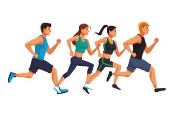 Fototapeta Fitness people running obraz