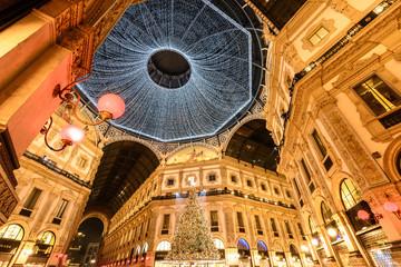 Milano luci di Natale 2018 Piazza Duomo e Galleria